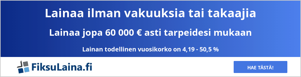 FiksuLaina.fi lainaa tästä