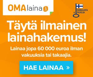 Omalaina.fi | Lainaa 100 - 60.000 euroa